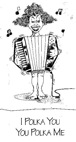 I Polka You Caricature